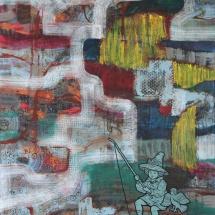 Deivis Slavinskas. ''Sonata of the lake''. Acrylic on the canvas. Size 150 X 150 cm. 2011.