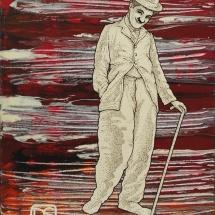 Deivis Slavinskas. ''Merman''. Acrylic on the canvas. Size 122 X 92 cm. 2014.