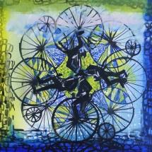 Jovita Glemžaitė-Matuzienė. ''On the road''. Canvas, oil, acrylic. Size 100 X 120. Price 1000 Eur.