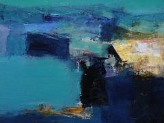 """Hiroshi Matsumoto paveikslas """"Lapkritis"""" 2012- 2. Paveikslo formatas 45,5 X 45.5 cm. 2012 m. Japonija."""