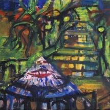 Jovita Glemžaitė-Matuzienė. ''Iguana''. 2015. Canvas, oil, acrylic. Size 80 X 60. Price 650 Eur.