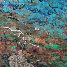 Deivis Slavinskas. ''The witch of Southwark''. Acrylic on the canvas. Size 61 X 46 cm. 2011.