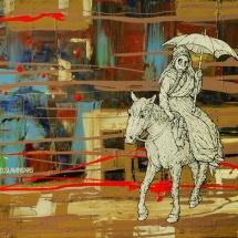 Deivis Slavinskas. ''Charlie''. Acrylic on the canvas. Size 30 X 40 cm. 2011.