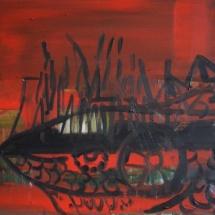 Jovita Glemžaitė-Matuzienė. ''Goblin''. 2015. Canvas, oil. Size 50 X 50. Price 600 Eur.