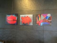 """Fragmentai iš Rūtos Levulienės parodos. Fotografuota verslo centre """"Vertas"""". 2015 m."""