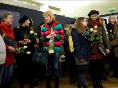 """Iridijaus Švelnio parodos """"Gyvenime viskas paprasta, bet nelengva"""" atidarymas. 2016.01.15., Kaunas"""