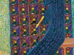 """Arūnas Žilys """"Su raudonu paukščiu"""" 150 X 60 2 000"""
