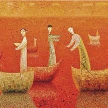 Arūnas Žilys. ''Travel''. Size 80 X 100 cm. 1999.
