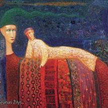 Arūnas Žilys. ''Double''. Size 105 X 130 cm. 2003.