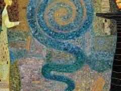 """Arūnas Žilys """"Mėlynai"""" 120 X 140 2002 m."""