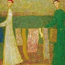 Arūnas Žilys. ''Balance''. Size 150 X 50 cm. 1998.