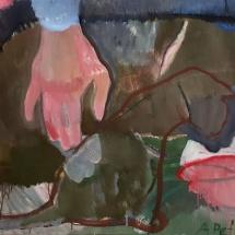 Audronė Petrašiūnaitė. ''Touch''. 2015. Size 50 X 60 cm. Canvas, oil.