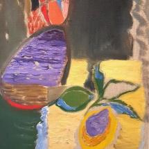Audronė Petrašiūnaitė. ''Plum''. 2010. Size 36 X 28 cm. Canvas, oil.