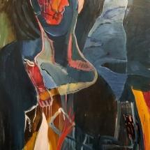 Audronė Petrašiūnaitė. ''Bag Flower''. Size 116 X 125 cm. Canvas, oil.