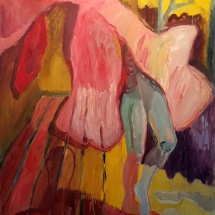 Audronė Petrašiūnaitė. ''Clothed with autumn''. 2015. Size 113 X 89 cm. Canvas, oil.