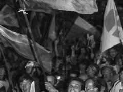 Romualdas Požerskis. Fotografija. Mitingas Kaune. 1988-08-02.