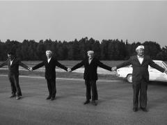 Romualdas Požerskis.  Fotografija. Baltijos kelias. 1989-08-23.