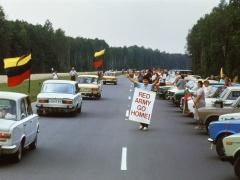 Romualdas Požerskis.  Fotografija. Baltijos kelias. 1989-08-23