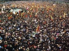 Romualdas Požerskis.  Fotografija. Vingio parkas. 1990-04-07.