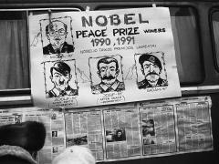 Romualdas Požerskis. Fotografija. Aplinkui Aukščiausiąją Tarybą. 1991-01-20