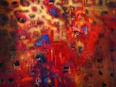 """Audrius Gražys Iš ciklo """"Atodangos"""", 1999 m. Drobe, aliejus, 150 X 150 cm."""