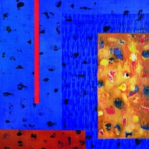 Audrius Gražys. From the cycle ''Exposure''. 1999. Canvas, oil. Size 150 X 150 cm.