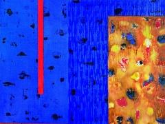 """Audrius Gražys. Iš ciklo """"Atodangos """" 170 X 130 cm, 2000 m. Drobė, aliejus"""