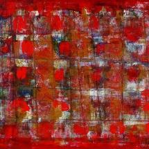 Audrius Gražys. ''Black, vertical, red''. Canvas, oil. Size 190 X 180 cm. 1998.