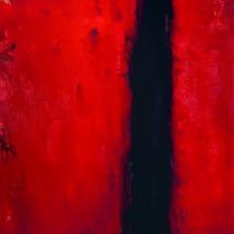 Audrius Gražys. ''Flow''. Canvas, oil. Size 80 X 70 cm. 1994.