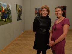 Su dailininke Gražina Pašakarniene, fotografavo Antanas Untydi