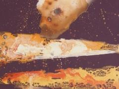 """Rita Rimšienė paveikslas iš ciklo """"Minčių skaitiniai I"""" drobė, akrilas, 110X150 cm."""