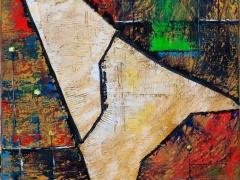 """Edmundas Kartanas Edmundas Kartanas paveikslas """"Esminis lūžis"""", drobė, aliejus, matemenys 60 X 80 cm, kaina 250 Eur"""