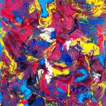 Edmundas Kartanas. Painting ''Broadcast''. Canvas, oil. Size 80 X 100 cm. Price 250 Eur.