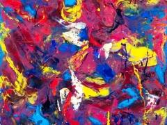 """Edmundas Kartanas paveikslas """"Valentino širdelė"""", drobė, aliejus, matmenys 50 X 70 cm, kaina 200 Eur"""