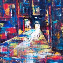 Edmundas Kartanas. Painting ''Crossroad''. Canvas, oil. Size 50 X 70 cm. Price 300 Eur.