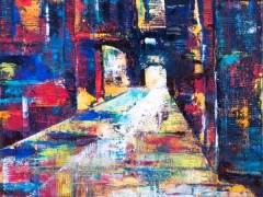"""Edmundas Kartanas paveikslas """"Kur tu"""", drobė, aliejus, matmenys 80 X 100 cm, parduotas."""