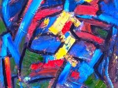 """Edmundas Kartanas paveikslas """"Lydekos miško upėje"""", drobė, aliejus matmenys 50 X 70 cm, kaina 200 Eur"""