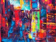 """Edmundas Kartanas paveikslas """"Fato morgana"""", drobė, aliejus 80 X 100 cm, kaina 350 Eur"""