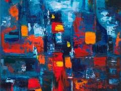"""Edmundas Kartanas paveikslas """"O už lango lietus"""", drobė, aliejus, matmenys 50 X 70 cm, kaina 300 Eur"""