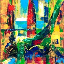 Edmundas Kartanas. Painting ''Lagoon''. Canvas, oil. Size 60 X 90 cm. Price 250 Eur.