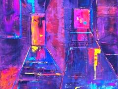 """Edmundas Kartanas paveikslas """"Transliacija"""" drobė, aliejus 80 X 100 cm, kaina 250 Eur"""