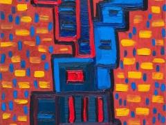 """Edmundas Kartanas paveikslas """"Sankryža"""", drobė aliejus, matmenys 50 X 70 cm. Kaina 300 Eur"""