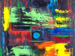 """Edmundas Kartanas paveikslas  """"Taškas"""", drobė, aliejus, matmenys 50 X 70 cm, kaina 350 Eur"""