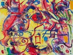 """Edmundas Kartanas paveikslas """"Arllekino"""" drobė, aliejus  matmenys 80 X 100 cm, kaina 250 Eur"""