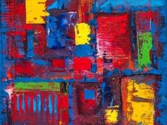 """Edmundas Kartanas paveikslas """"Rubikonas"""", drobė , aliejus matmenys 50 X 70 cm, kaina 250 Eur"""