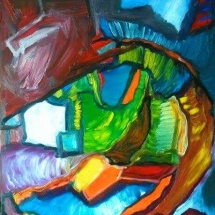 Edmundas Kartanas. Painting ''Rubicon''. Canvas, oil. Size 50 X 70 cm. Price 250 Eur.