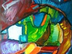 """Edmundas Kartanas paveikslas """"Laumžirgis ir vandenėlis"""", drobė , aliejus, matmenys 80 X 100 cm. Kaina 250 Eur"""