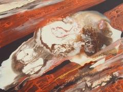 """Rita Rimšienė paveikslas iš ciklo """"Minčių skaitiniai II"""" drobė, akrilas, 100X 120 cm. 2017 m."""