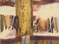 """Rita Rimšienė paveikslas iš ciklo """"Minčių skaitiniai III"""", drobė, akrilas, 100X120 cm. 2017 m."""