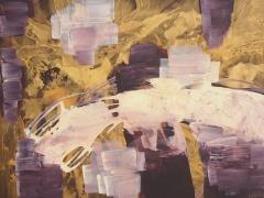 Rita Rimšienė paveikslas iš ciklo 'Minčių skaitiniai V'. Drobė, akrilas, 100X135 cm. 2017 m.